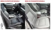 thumb Autopotahy kožené BMW X5 I E53, od r. 1999-2006, AUTHENTIC LEATHER černobéžové