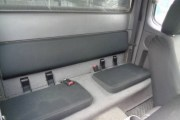 thumb Autopotahy FORD RANGER, půlená zadní lavice, od r. 2007, AUTHENTIC VELVET černomodré