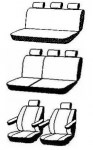 thumb Autopotahy Volkswagen T5 8 míst, 1+1-2+1-3, od r. 2003, AUTHENTIC PREMIUM matrix černý