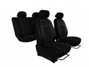 thumb Autopotahy Škoda Fabia II, kožené Tuning černé, nedělené zadní sedadla