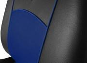 thumb Autopotahy Škoda Octavia III, kožené Tuning, se zadní loketní opěrkou, modré