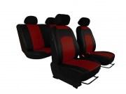 thumb Autopotahy Škoda Fabia II, kožené Tuning černovínové, dělené zadní sedadla