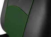 thumb Autopotahy Škoda Fabia II, kožené Tuning černozelené, nedělené zadní sedadla