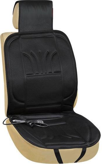 Potah na sedadlo vyhřívaný ALASKA 12 V  +opěrka hlavy černý